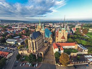 Erfurt Cathedral - Image: Erfurter Dom von Oben 08