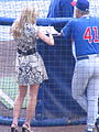 Erin Andrews, Cubs vs Brewers, July 30, 2008 3.jpg