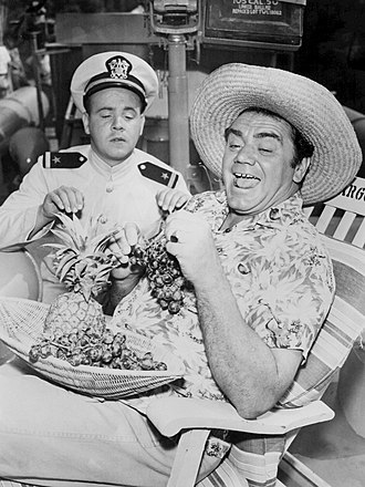 Tim Conway - Conway and Ernest Borgnine in a photograph of McHale's Navy, 1962