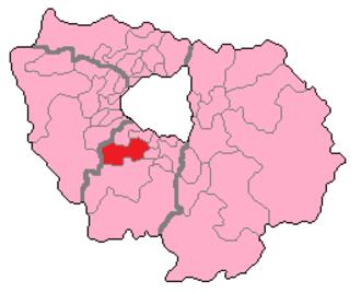 Essonne's 4th constituency - Essonne's 4th Constituency shown within Île-de-France.