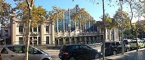 Estació del Nord (Barcelona) - The frontage seen from Plaça d'André Malraux