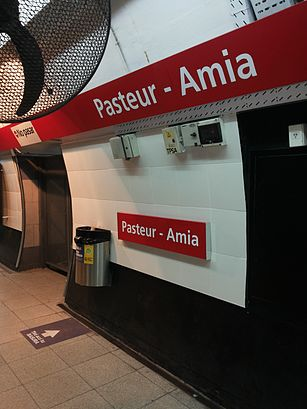 Cómo llegar a Pasteur - AMIA en transporte público - Sobre el lugar