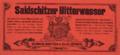 Etiketa Saidschitzer Bitterwasser 1885.png