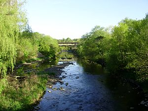 Etobicoke Creek in Toronto, Canada, photograph...