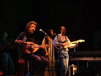 Eugenio Bennato - Eugenio Bennato (left) performing live at Atripalda