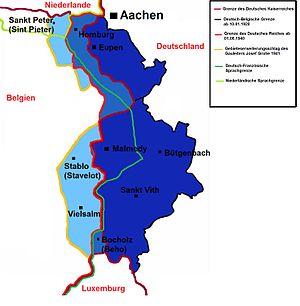 Eupen-Malmedy - Eupen-Malmedy border changes between 1920 and 1945
