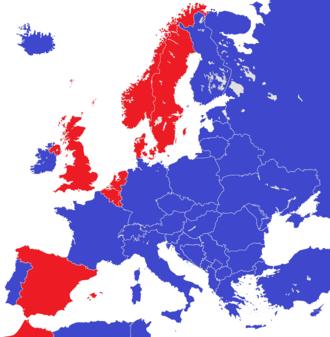 Abolition of monarchy - Image: Europe 2015 monarchies versus republics