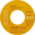 Everybody's talkin' by nilsson us vinyl 1969 re-release.png