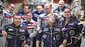 Expedition 38 crew members are welcomed.jpg