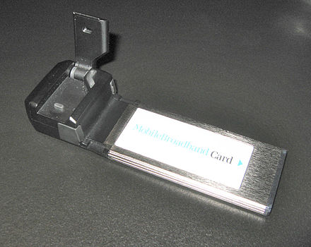 A mobile broadband modem in the ExpressCard form factor for laptop computers Expresscard 34.jpg