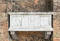 Exterior of Santi Giovanni e Paolo (Venice) - Tomb of Marino Morosini.jpg