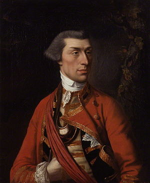 39th (Dorsetshire) Regiment of Foot - Major Eyre Coote who commanded the regiment at the Battle of Plassey in June 1757