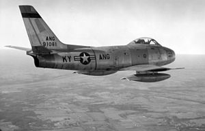 F-86A Kentucky ANG in flight 1957.jpg