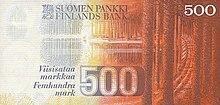 500 markkaa obverse
