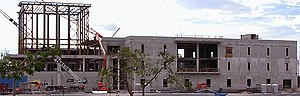 Rafael Diaz-Balart Hall, the College of Law building under construction in 2005.