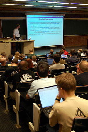 Picture from FOSDEM 2008.
