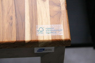 Environmental certification - Example of Forest Stewardship Council (FSC) label