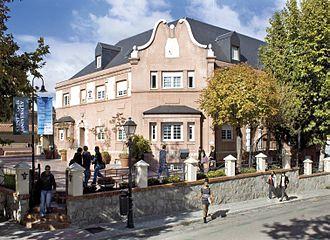 Saint Louis University Madrid Campus - Façade of SLU Madrid Campus, Padre Arrupe Hall