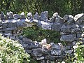 Failure of a dry stone wall with a cemented top - geograph.org.uk - 1011481.jpg