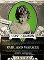 Fair and Warmer (1919) - Ad 1.jpg
