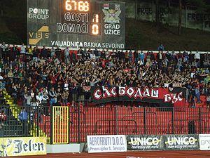 FK Sloboda Užice - Image: Fans of Sloboda