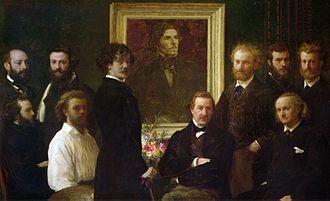 Albert de Balleroy - Image: Fantin Latour Homage to Delacroix