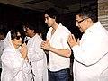 Farida Jalal at Sunil and Dharmesh Darshan's dad's prayer meet.jpg