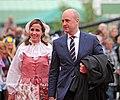 Filippa Reinfeldt och Fredrik Reinfeldt under nationaldagsfirande vid Skansen 2009 2.jpg