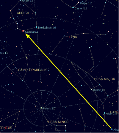 how to find the north star from orion& 39