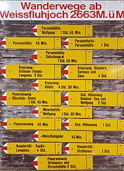 Fingerpost on Weissfluhjoch 1