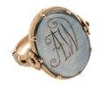 Fingerring av guld med medaljong, 1700-tal - Hallwylska museet - 110246.tif