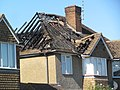 Fire-damaged house in Highfield Road (geograph 4659111).jpg