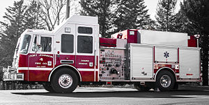 Firefighting apparatus - An example of a fire engine from the Fort Johnson Fire Company in the United States