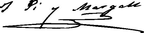 Francesc Pi i Margall's signature