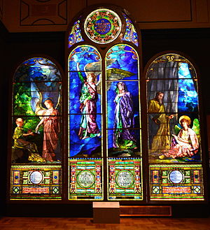 First Unitarian Church of Detroit - Stained glass windows of the First Unitarian Church, on display at the Detroit Institute of Arts