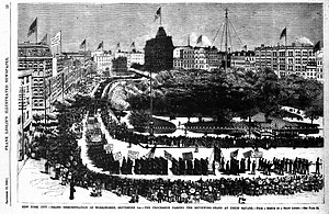 Labor Day - Labor Day Parade in New York's Union Square, 1882