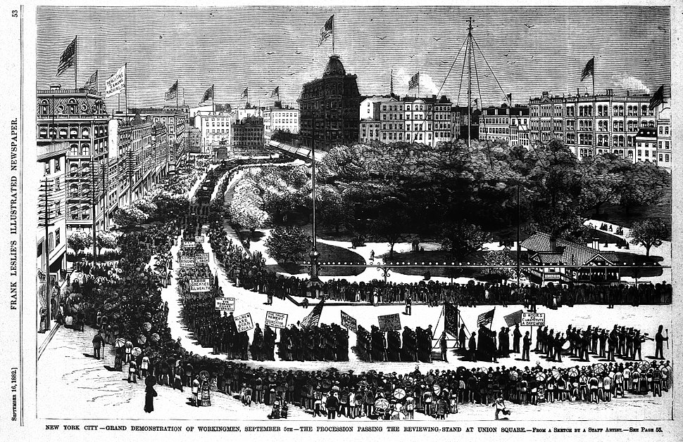 First United States Labor Day Parade, September 5, 1882 in New York City