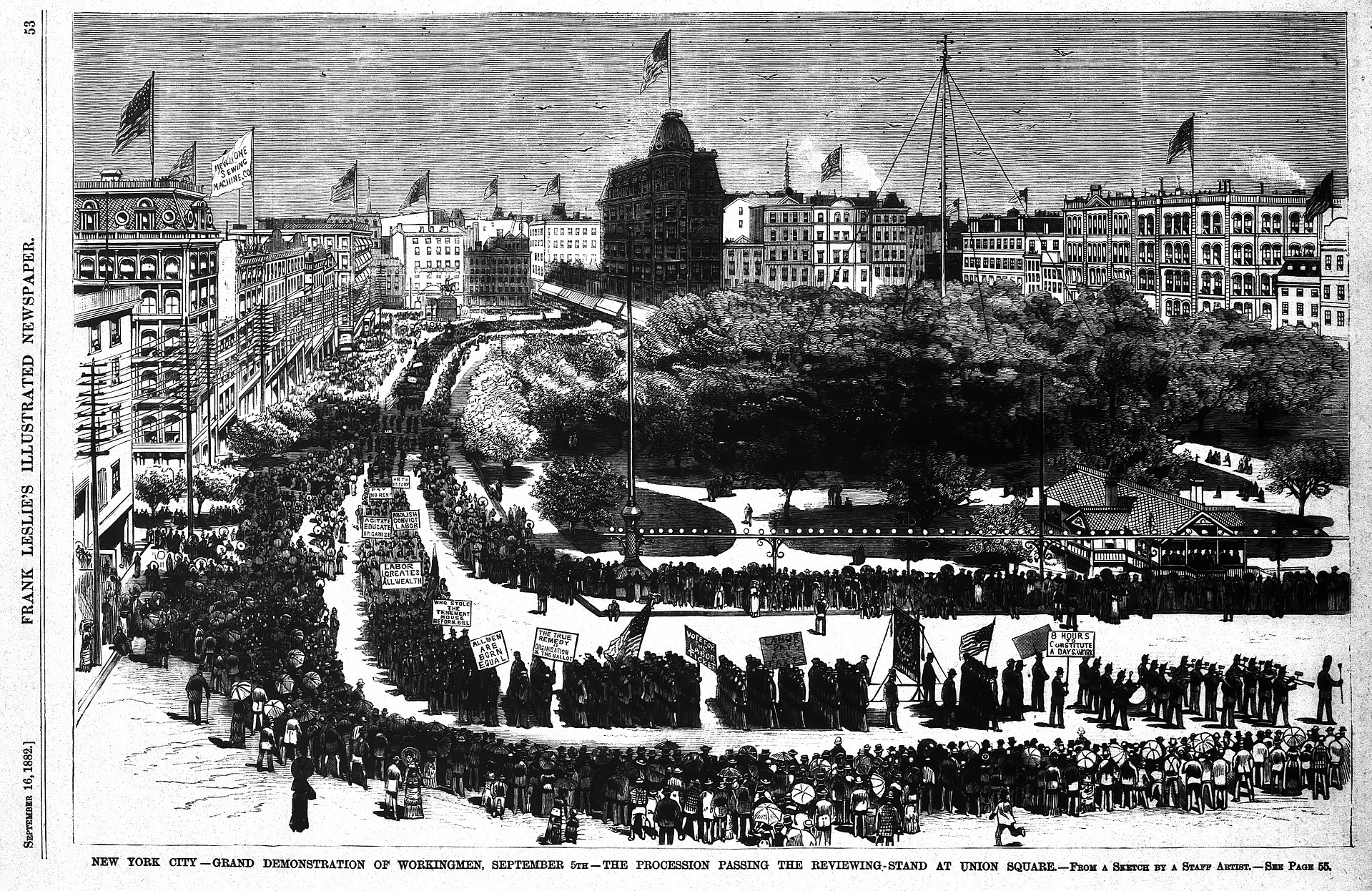 the history of the american labor movement in the united states United states history ii module 2: capital and labor search for: the labor movement lawrence textile strike, 1912 library of congress  and a vast industrial workforce in the last quarter of the nineteenth century sparked the rise of a vast american labor movement.