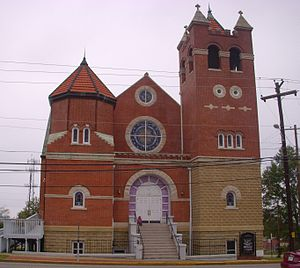 First Baptist Church (Montgomery, Alabama) - Front of the First Baptist Church