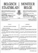 First page Moniteur belge - Belgisch Staatsblad