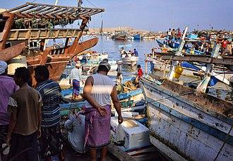 Economy of Yemen - Fish market in Yemen (2013)
