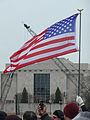 Flag cranes and museum Inauguration 2013.jpg