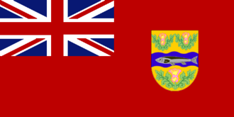 1927 Macdonald Brier - Image: Flag of Nova Scotia (1868 1929)