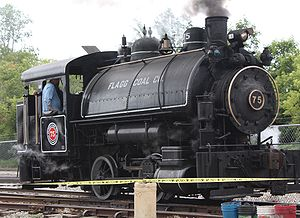 English: Flagg Coal 0-4-0T No.75 at Train Fest...