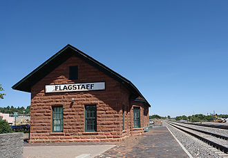 Flagstaff station - Image: Flagstaff AZ train station