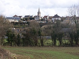 A general view of Fleury-sur-Orne