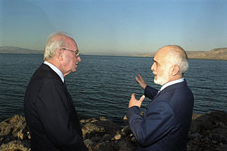 Israel–Jordan relations - King Hussein and Prime Minister Yitzhak Rabin, in 1994