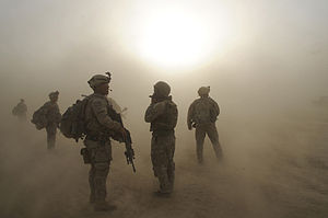 Military branch - Image: Flickr The U.S. Army Waiting out the dust storm