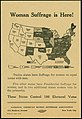 Flier- Woman Suffrage is Here!-These States control 198 Electoral Votes, 1918.jpg