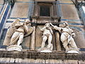 "Florence - Florence Baptistery - exterior figures above The Gates of Paradise- ""Baptism of Christ"" (replica) 2010.jpg"